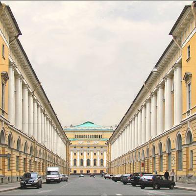 Улица Зодчего Росси (современный вид)