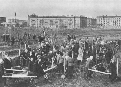 Парк Победы в дни блокады