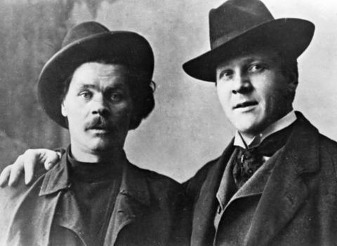 Писатель А.М. Горький и певец Ф.И. Шаляпин
