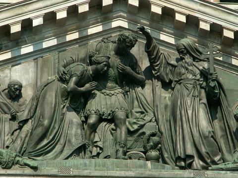 Встреча Исаакия Далматского с императором Феодосием
