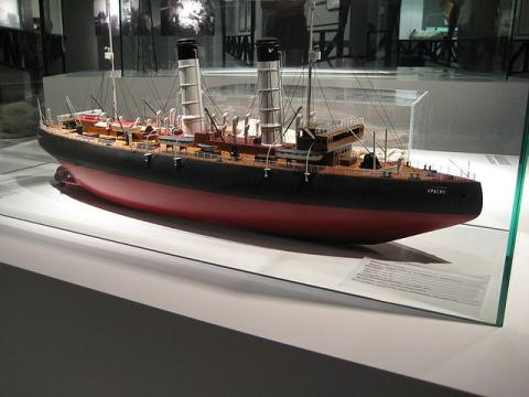 Модель ледокола до его реконструкции
