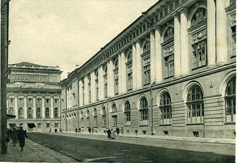 Улица Зодчего Росси на старой открытке