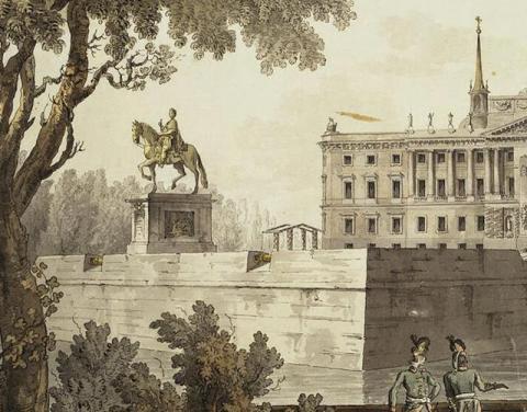 Вид Михайловского замка. Д.Кваренги. 1800 г