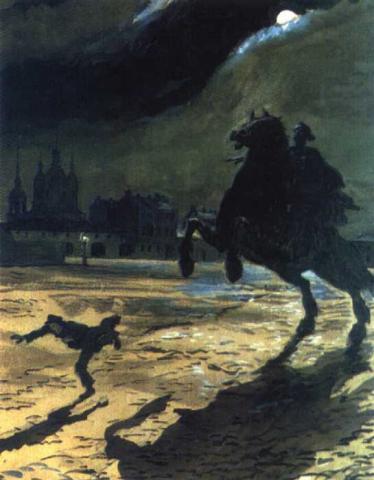 Иллюстрации Бенуа к «Медному всаднику» Пушкина 1899-1905 годы