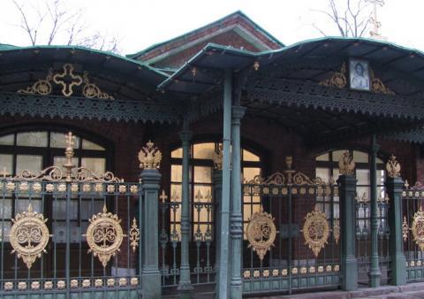 Фасад Домика Петра I в Петербурге
