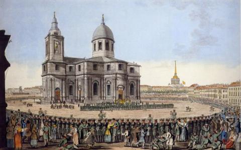 Третий Исаакиевский собор на гравюре