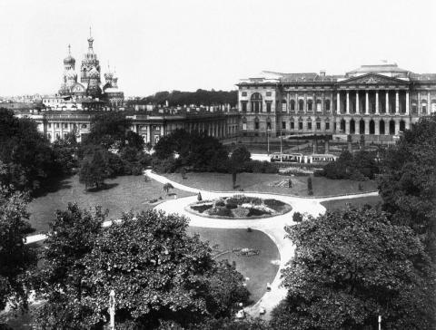 Михайловский сквер в начале XX века