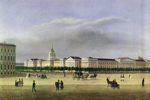 Адмиралтейство в 1810-х, с литографии Барта