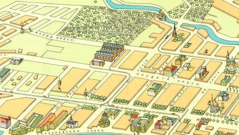 Фрагмент карты 1913 года