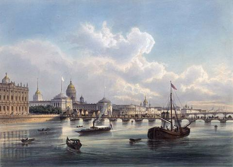 Дворцовый мост в XIX веке